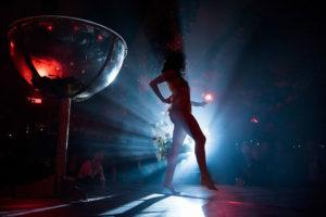 Burlesque-Show auf einem Event in Köln